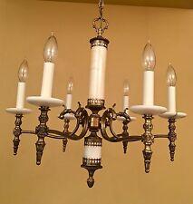 Vintage Lighting unique 1970s marble chandelier by Moe