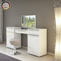 Coiffeuse design Coiffeuse Set de maquillage Commode avec miroir blanc