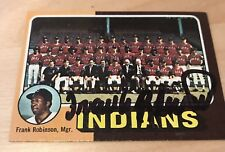 FRANK ROBINSON INDIANS SIGNED 1975 TOPPS MINI IP COA