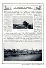 Continental Gas Gesellschaft Dessau XL Reklame 1912 Werbung Gasballon Anhalt