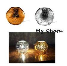 "Ikea Knubbig Table Lamp Glass Globe 7"" Copper Michiko Nakata New"