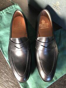 Crockett &Jones Penny Loafers SYDNEY Black Calf Uk 9; Us 10; EU 44 CITY SOLE