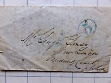 """1849 Folded Letter. Baltimore, MD. Stamped """"5"""" to New London, Frederick Co. MD"""