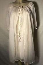 Vtg Sans Souci Pink Chiffon Nightgown Robe Peignoir Glam Old Hollywood 50's med