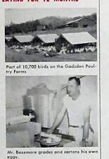 Original 1955 Farm Fence Ad Photo Endorsed by Harvey Bazemore of Gadsden Alabama