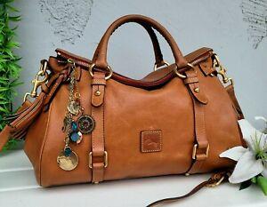 Dooney & Bourke MD/LG florentine natural Satchel leather purse handbag shoulder