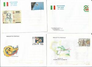 Stationery Aerogramme: Italy 4 Seros