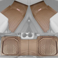 Motor Trend Spill-Capturing Rubber Car Floor Mats for All Weather Heavy Duty Set