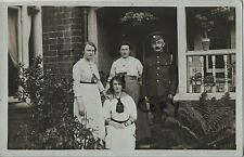 WW1 soldier ASC Army Service Corps with his family