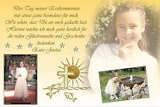 10 Danksagungen Konfirmation Kommunion Fotokarte Danksagungskarten Einladungen