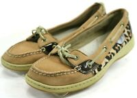 Sperry Top Siders Angelfish $90 Women's Boat Shoes Size 8 Leather Brown