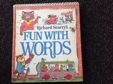 Richard Scarry's Fun With Words Vintage 1971 Hardcover Look & Learn Children's