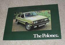 FSO Polonez Brochure 1978-1979