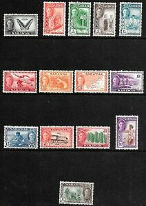 Sarawak 1950 KGVI Pictorials - SS with all values to $1 - MLH