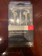 Samsung White In-Ear Headsets New Headphones for Active Listener