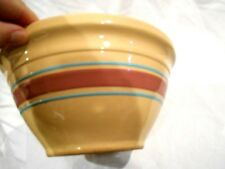 Oven Ware #10 Stoneware Mixing Bowl Purple/Blue Rings