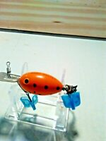 """VINTAGE OLD LURE ORANGE W/BLACK DOTS ARBO-GASTER LURE FOR BASS FISHING """"RARE""""."""