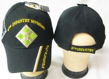 New Black 4th Fourth Infantry Division Army Hat Ball Cap Steadfast and Loyal Ivy