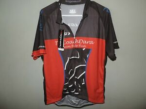 Mens Louis Garneau Graphic Red 1/2 Zip Cycling Jersey Shirt SZ 2XL Fast Ship NWT