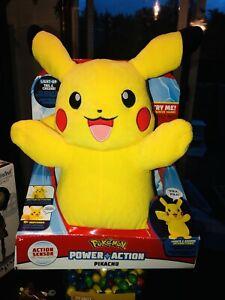"""Pokémon Power Action 12"""" Pikachu Plush Toy"""