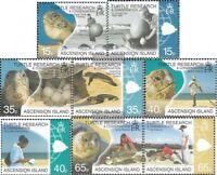 Ascension 1082-1089 (kompl.Ausg.) postfrisch 2009 Erforschung Meeresschildkröte
