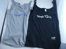 SHANIA TWAIN CONCERT TOUR SHIRTS-NEW-TANK TOPS 2 PCS sexy fit  small