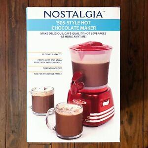 Nostalgia Retro 50s Style Hot Chocolate Maker 600w 32oz Capacity