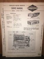 Vintage Philco Auto Radio Service Manual C-5705 P-5701 Original Copy