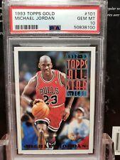 1993 Topps Gold #101 Michael Jordan CHICAGO BULLS PSA 10 Gem Mint LOW POP AS