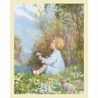 Spring Butterflies - 1977  Vintage M W Tarrant Medici Print
