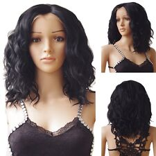 Glueless Short Bob Hair Wig Lace Front Wigs Heat Resistant Wavy Black Mix Wig BT