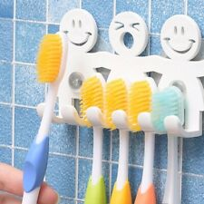 Toothbrush Holder Wall Mounted Suction Cup 5 Position Cute Cartoon Smile