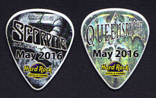 Scorpions Queensryche May 2016 Hard Rock Guitar Pick 2016 50th Anniversary Tour
