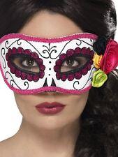 Jour de The Dead Masque pour les Yeux , Cosmétiques et Déguisement , Blanc/Rose