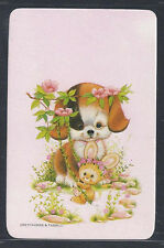 #915.280 Blank Back Swap Cards -MINT- Patch Eye Dog with bunny