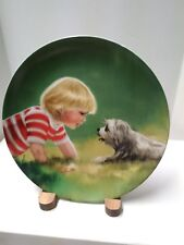 """Donald Zolan's """"Making Friends"""" 1985 Collector Plate"""