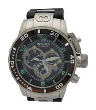 Invicta Corduba 0477 Mens Swiss Chronograph Black Polyurethane Steel Watch