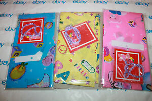 """Premier Baby Giant plastic Gift Bag w/ Cord Tie  36"""" x 48"""" Pink , Blue or Yellow"""