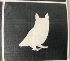 X5 Owl Nature Stencil Glass Craft Etched Vinyl Sticker Silhouette Disney Hero