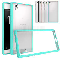 Slim Hybrid Clear TPU Hard Case Shockproof Bumper Phone Cover For Sony Xperia L1