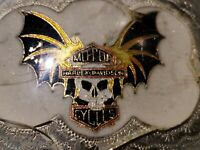 Silver Harley Davidson Belt Buckle Americana Hand Made Old Pawn Style