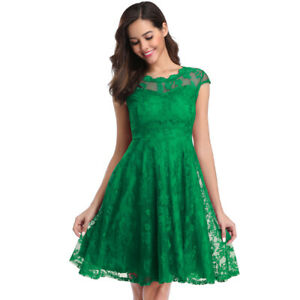 Women's Floral Lace Bridesmaid Wedding Homecoming Formal Party Cocktail Dresses