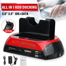 USB 2.0 HDD Station d'accueil 2 Port Carte Disque Dur Externe SATA IDE Lecteur