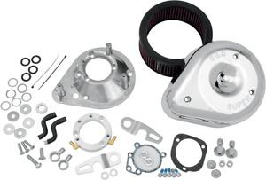 S&S Chrome Teardrop Air Cleaner Filter Kit 91-11 Harley Sportster XLH XLR XL XLL