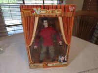 N Sync Collectible Marionette Figure JC Chasez living toyz doll 2000 RARE puppet