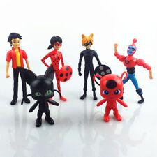 6pcs Cute Miraculous Ladybug PVC Action Figures Doll Set Kids Boy Girl Toy Gift