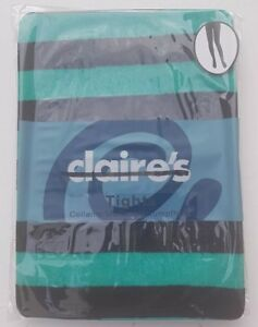 Neon green & Black Striped Claire's Tights one size