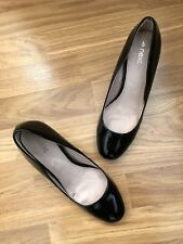 NEXT. SIZE 4/37. BLACK PATENT COURT SHOES