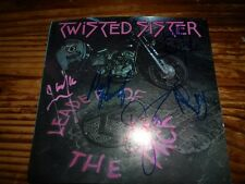 TWISTED SISTER  signed vinyl 45 by entire band...DEE SNIDER, AJ PERO (rip) + 3