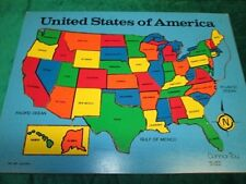 Connor Toy Wooden Puzzle Map ~ The United States of America 14 pieces Complete